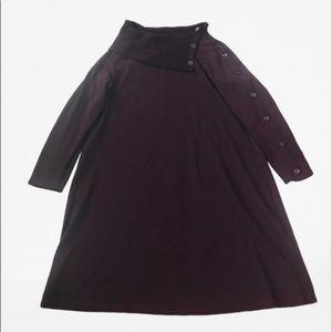 Lane Bryant Cowl Neck Burgundy Maxi Knot Dress